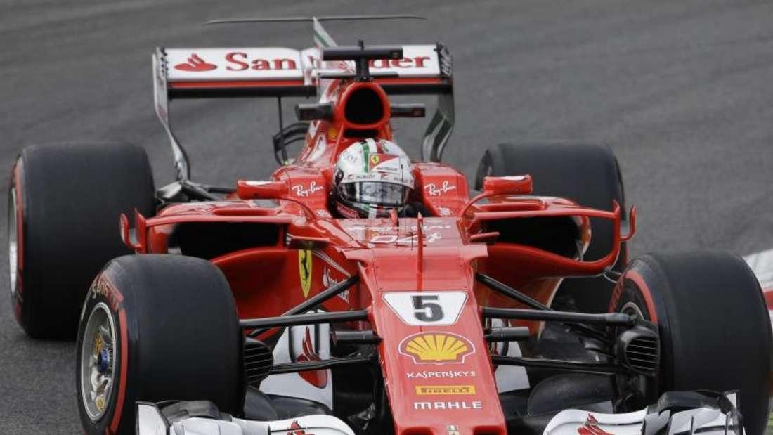 Dritter beim ersten Training in Monza: Ferrari-Pilot Sebastian Vettel. Foto: Luca Bruno