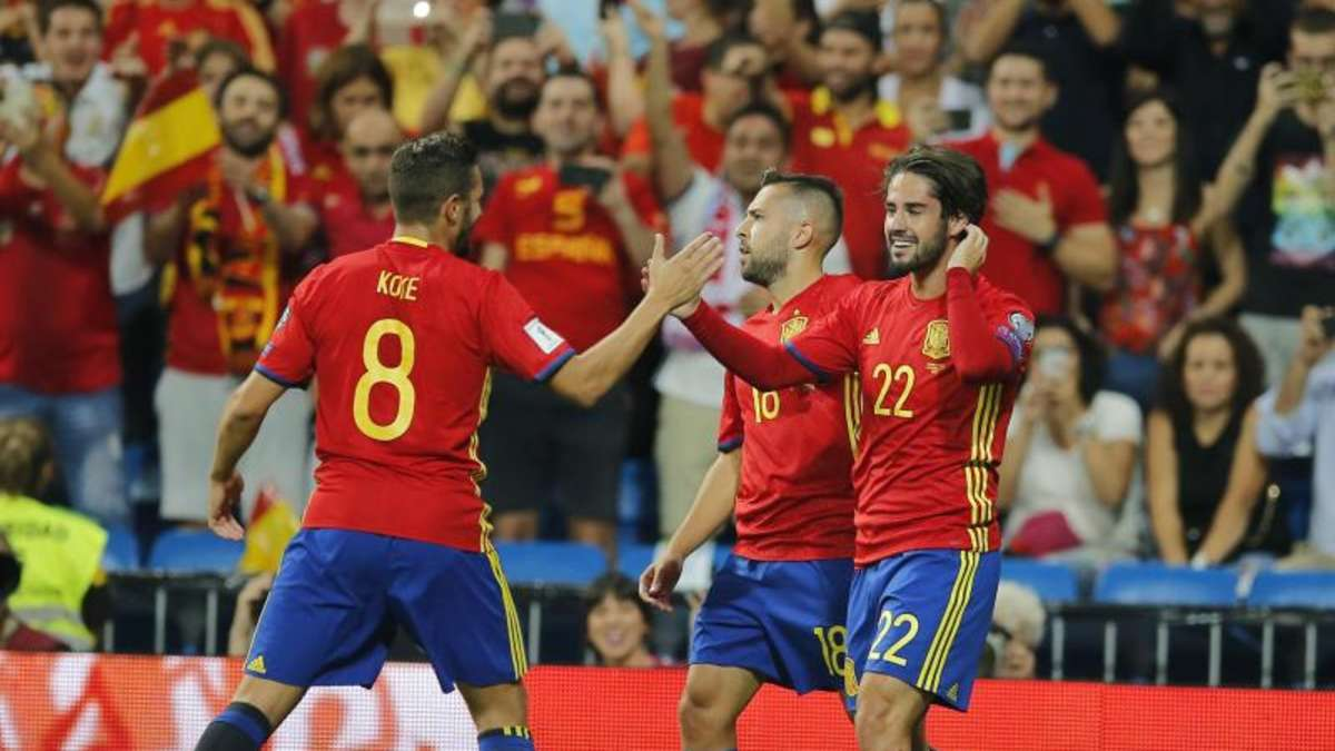 Fussball Spanien Italien