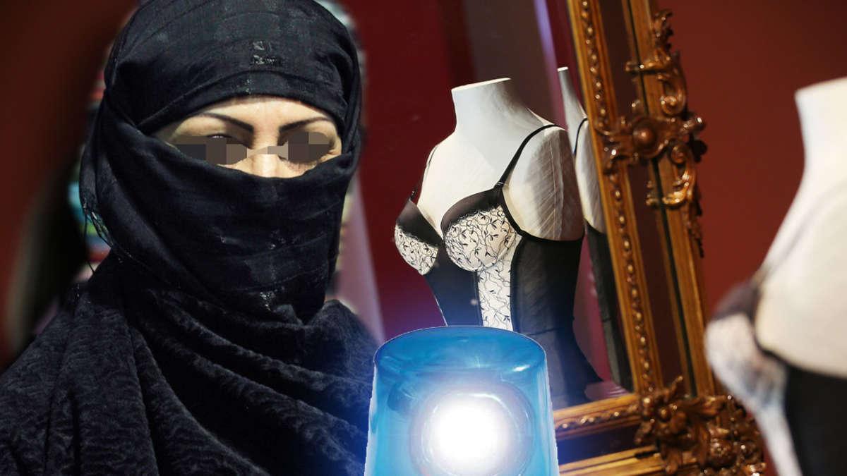 dessous verk uferin von burka frau im eigenen laden verpr gelt welt. Black Bedroom Furniture Sets. Home Design Ideas