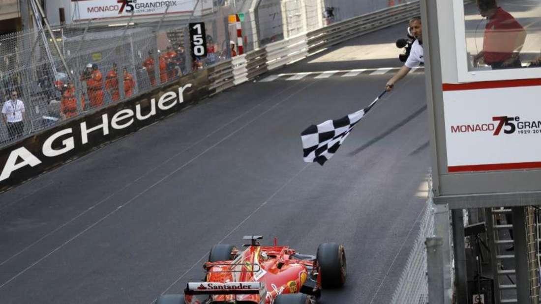 Ferrari-Pilot Sebastian Vettel gewann in diesem Jahr das Rennen in Monte Carlo. Foto: Frank Augstein