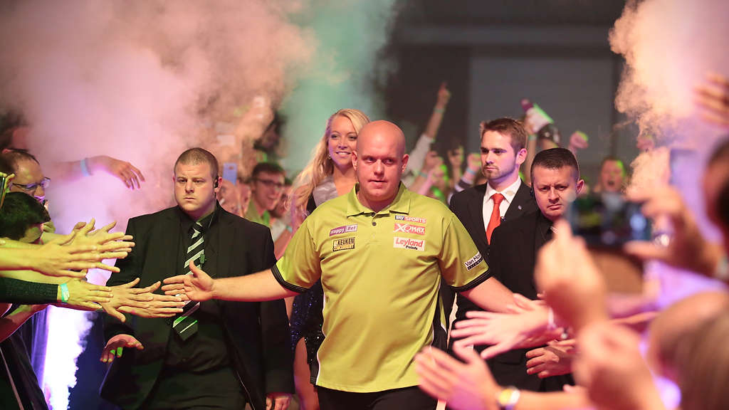 Großes Finale des German Darts Grand Prix in der Maimarkthalle