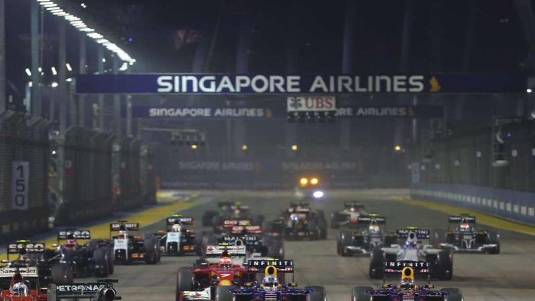 Das Nachtrennen in Singapur soll weiter Bestandteil des Formel-1-Rennkalenders sein. Foto: Diego Azubel
