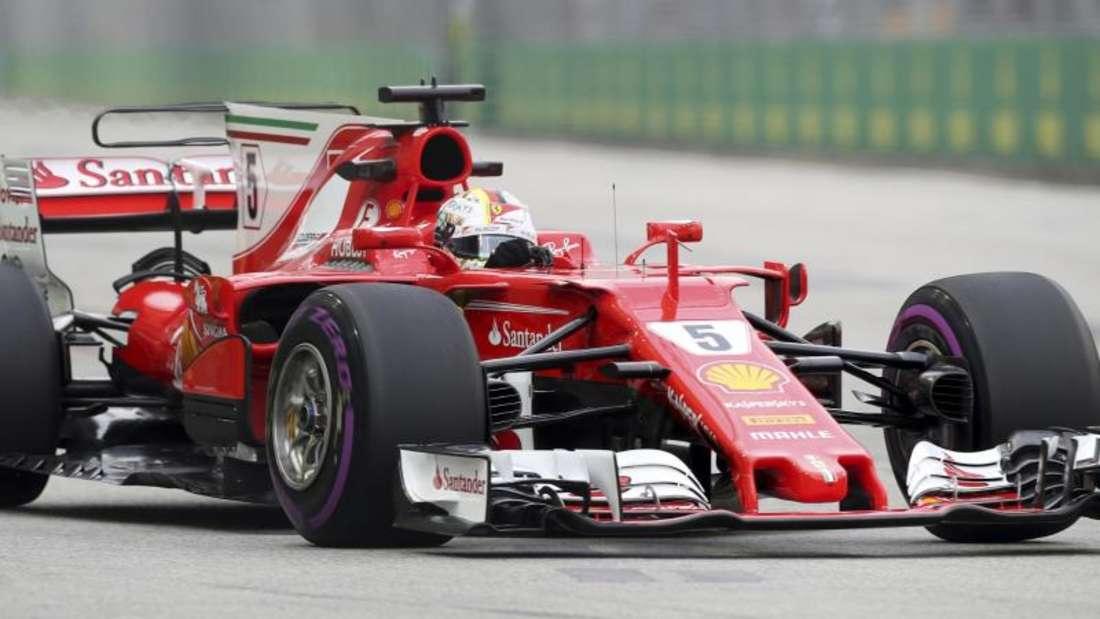 Sebastian Vettel fuhr die zweitschnellste Zeit. Foto: Yong Teck Lim