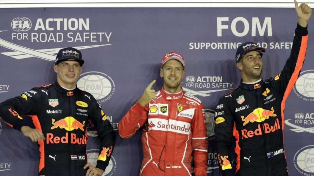 Ferrari-Pilot Sebastian Vettel eroberte in Singapur Startplatz Nummer eins. Foto: Wong Maye-E
