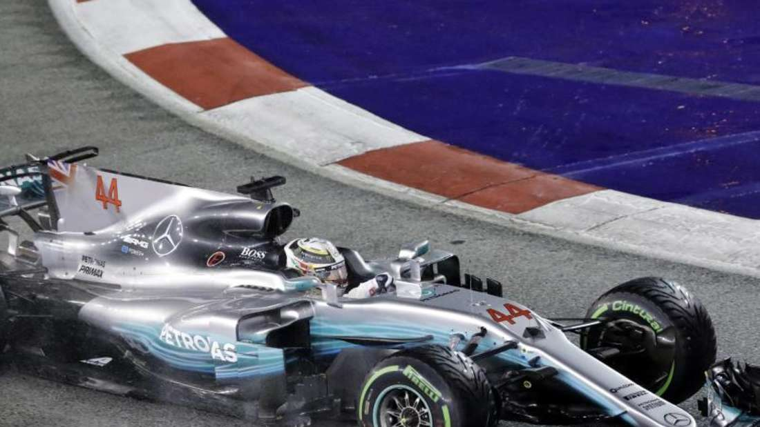 Sieger des Großen Preis von Singapurs 2017: Mercedes-Pilot Lewis Hamilton. Foto: Wong Maye-E