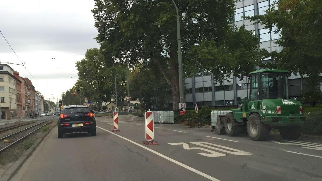 Nadelöhr mit Stau-Garantie: Die Baustelle an Carl-Bosch- und Brunckstraße.