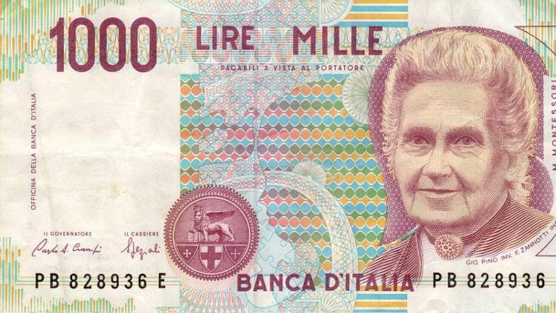 Die italienische Lira war von 1861 bis zur Einführung des Euro das offizielle Zahlungsmittel Italiens. Sie war zudem auch in den beiden Zwergenstaaten San Marino und Vatikanstadt offizielle Währung. Doch vor 2001 spielten wegen einer anhaltenden Inflation nur noch die Werte 50, 100, 200, 500 und 1.000 Lire eine Rolle im Zahlungsverkehr. Ein Euro beträgt nach heutigem Umrechnungskurs etwa 2.000 Lire.
