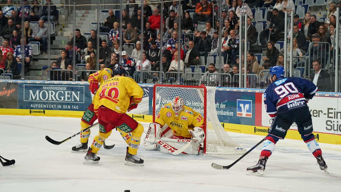 Adler Mannheim gewinnen Heimspiel gegen Düsseldorfer EG.