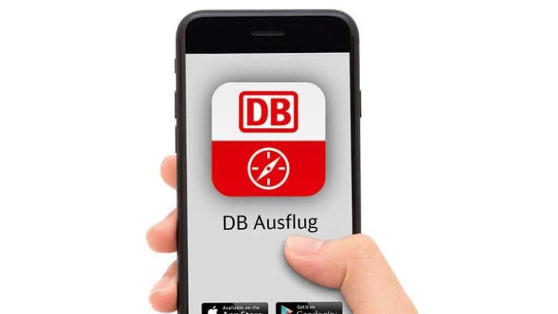 Mit der App«DBAusflug» lassen sich Ausflüge planen. Foto: Deutsche Bahn/dpa