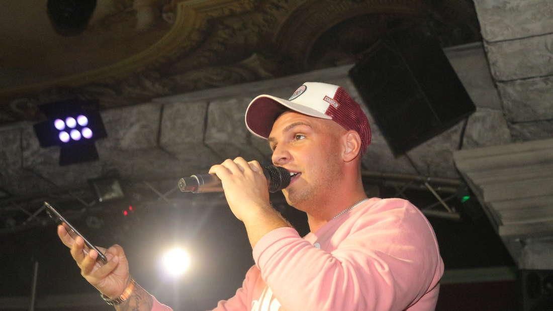 """Der umjubelte Auftritt von Sänger Pietro Lombardi (25) im """"Musikpark Ludwigshafen""""."""