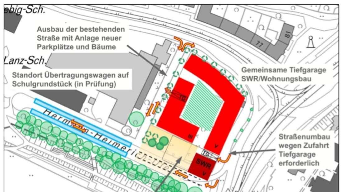 Am Neckar wird bis Mai 2022 das neue SWR-Studio entstehen.