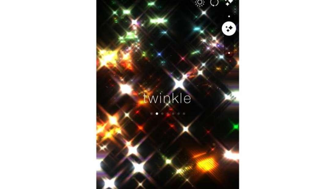 Die iOS-App «kirakira+» sorgt mit Glitzer-Filtern für lustige optische Spielerein. Foto: www.kentaroid.com/dpa