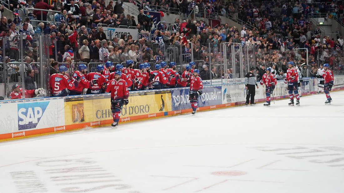 Adler Mannheim gewinnen DEL-Heimspiel gegen Straubing Tigers.