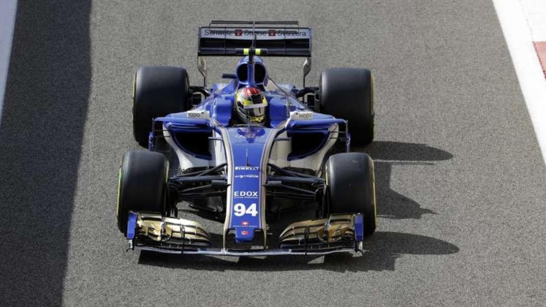 Sauber-Pilot Pascal Wehrlein beim Saisonfinale in Abu Dhabi.