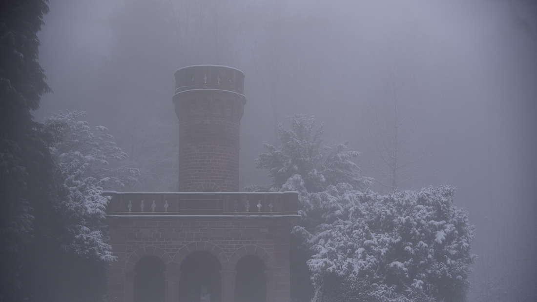 Schneelandschaften auf dem Königstuhl und am Kohlhof in Heidelberg