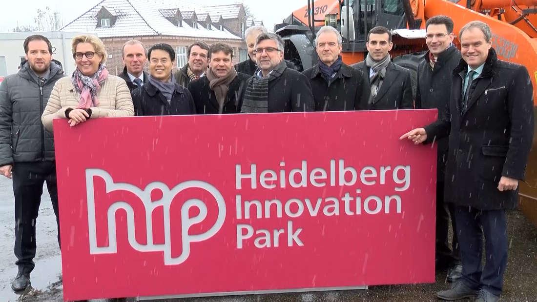 Am Freitag (1. Dezember) fällt auf der Konversionsfläche Patton Barracks in Heidelberg-Kirchheim der Startschuss für den Heidelberg Innovation Park (HIP). © HEIDELBERG24/PR-Video/Priebe