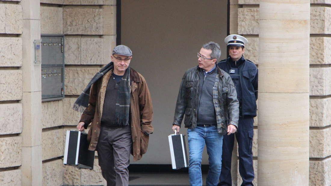 """Die Dreharbeiten für den Ludwigshafen-""""Tatort"""" in der Wittelsbachstraße."""