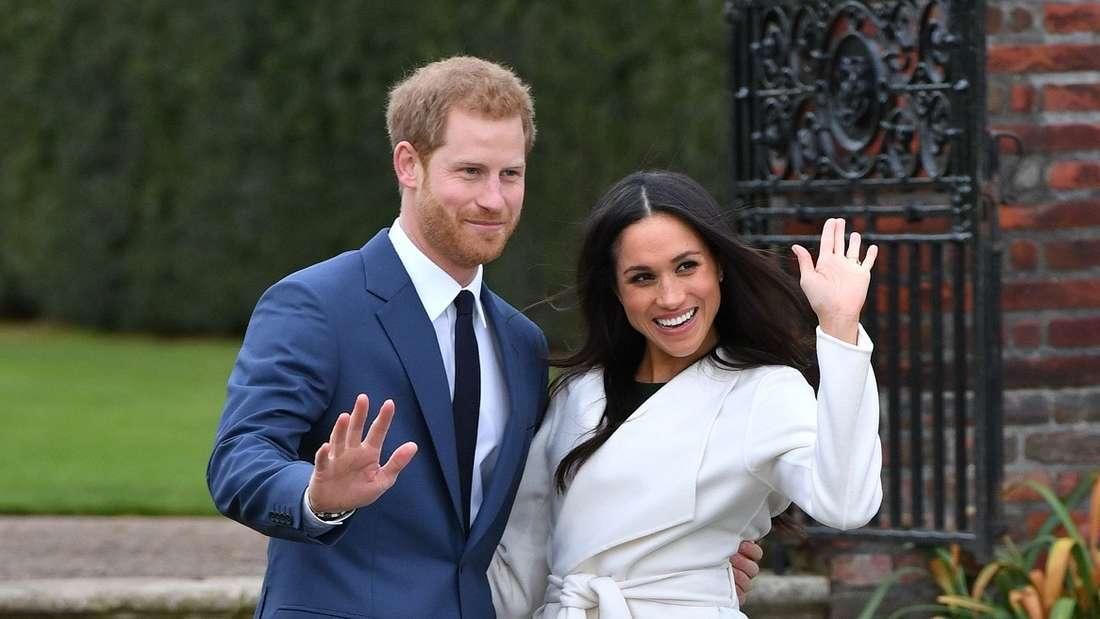 Prinz Harry und Meghan Markle nach der Bekanntgabe ihrer Verlobung.