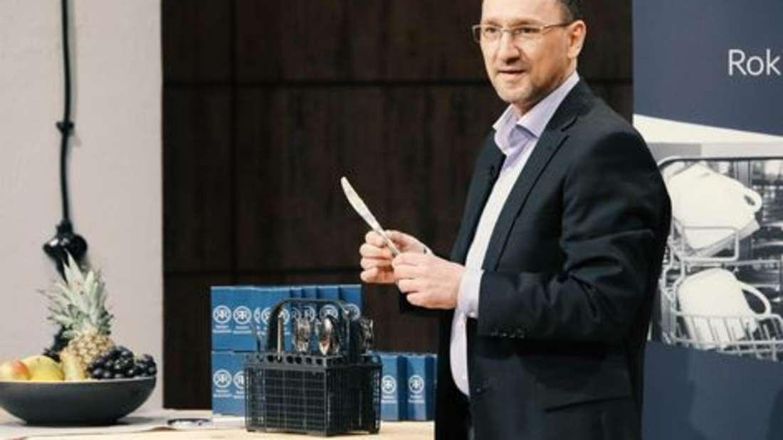 Rokitta's Rostschreck - Helfer gegen Flugrost in der Spülmaschine. Gründer: Oliver Rokitta. Deal: 100.000 Euro gegen zehn Prozent Firmenanteile. Investor: Ralf Dümmel.