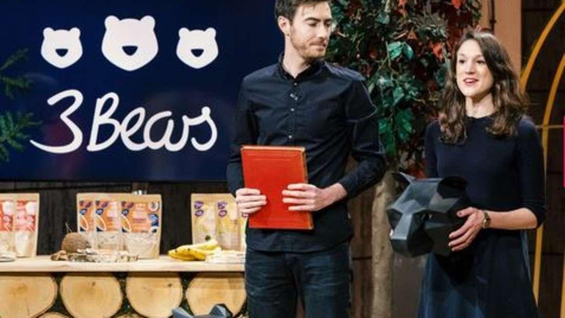 3Bears - Gesunde Porridges ohne Zuckerzusätze. Gründer: Caroline Steingruber und Tim Nichols. Deal: 150.000 Euro gegen 15 Prozent Firmenanteile. Investoren: Frank Thelen und Judith Williams.