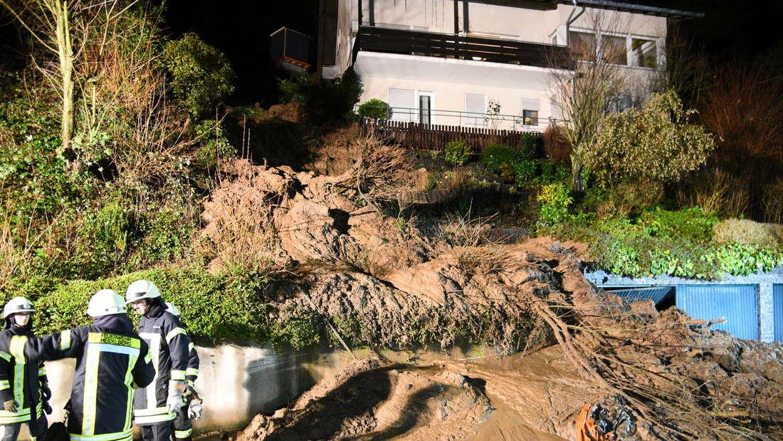 Erdrutsch am Bächenbuckel, Anwohner müssen das Haus verlassen