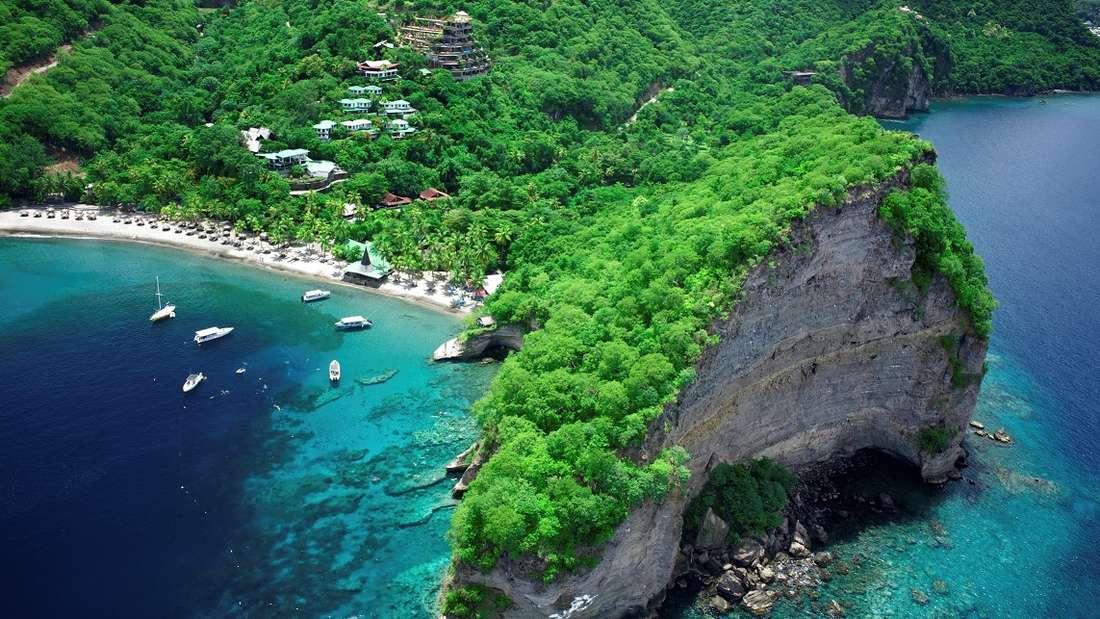 Ansa Chastanet Resort auf der Insel St. Lucia.