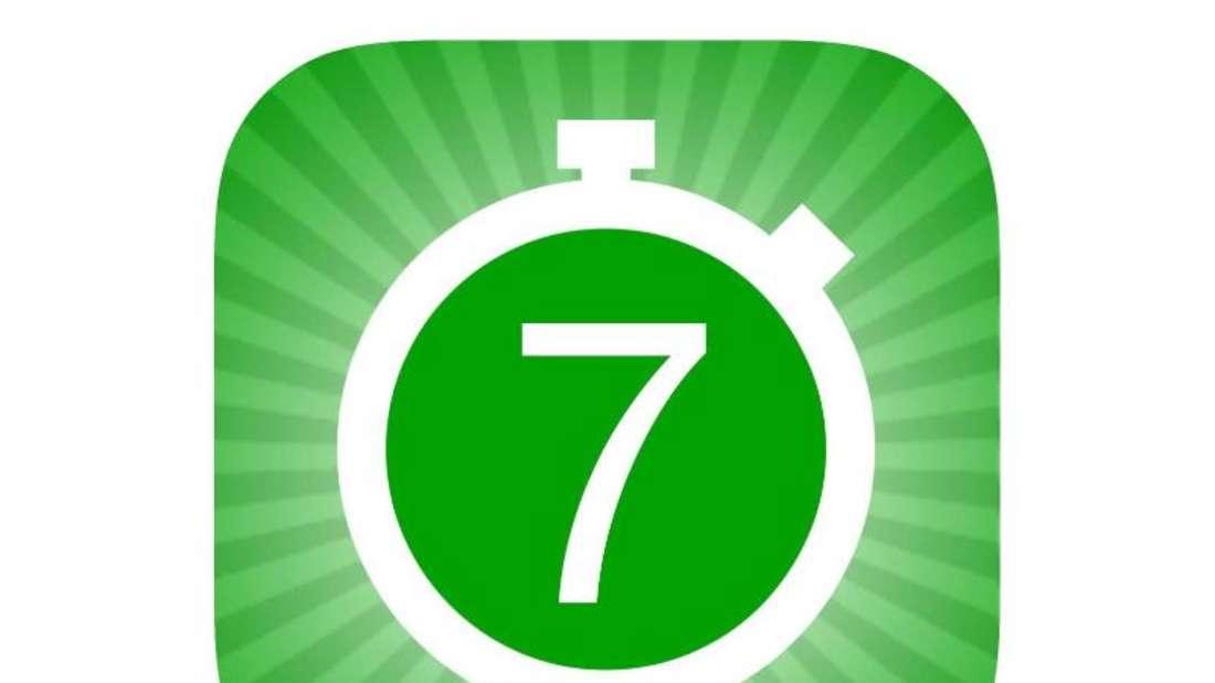 Platz zehn der kostenpflichtigen iphone-Apps: «7-Minuten-Trainingseinheit», Foto: Appstore von Apple/dpa