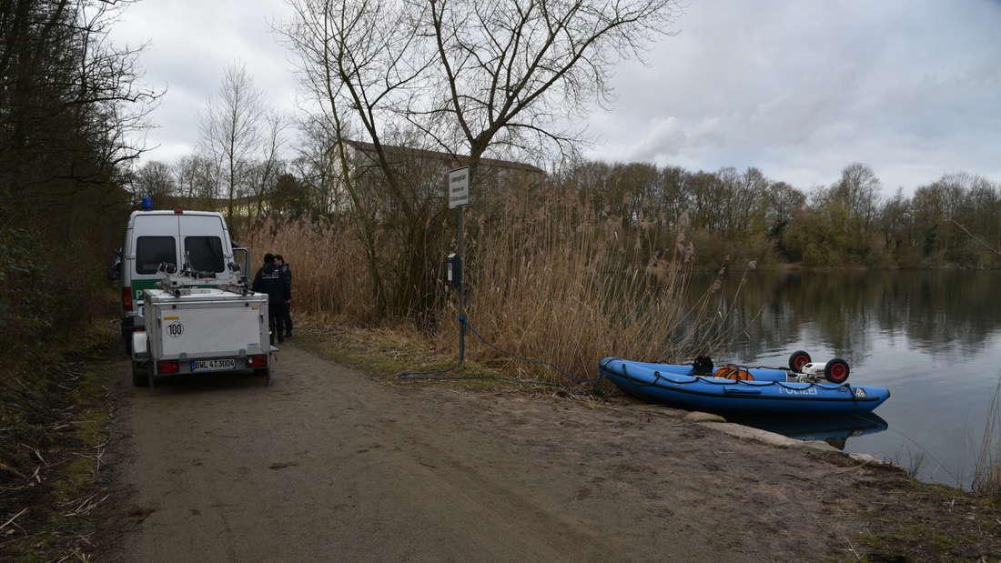 Dritter Tauchgang am Pfingstbergweiher