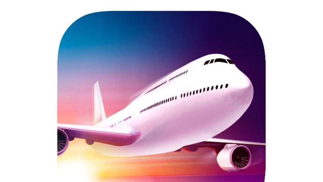 Mit «Take Off - The Flight Simulator» von astragon Entertainment GmbH wird das iPhone zum Cockpit. Foto: Appstore von Apple/dpa