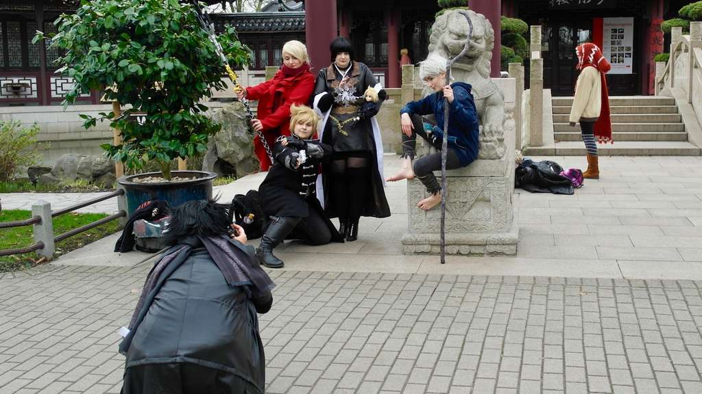 Cosplayer beim Shooting