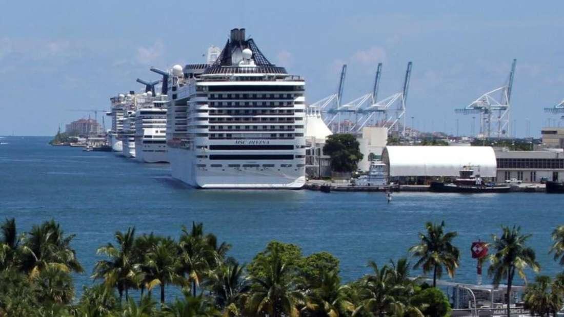 Für Passagiere ist der Hafen von Miami praktisch, denn er liegt direkt in der Stadt. Foto: Verena Wolff