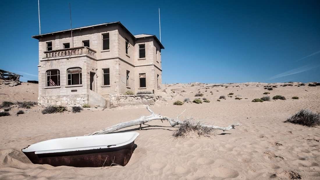 Die Kolmannskuppe in Namibia ist heute eine Geisterstadt.