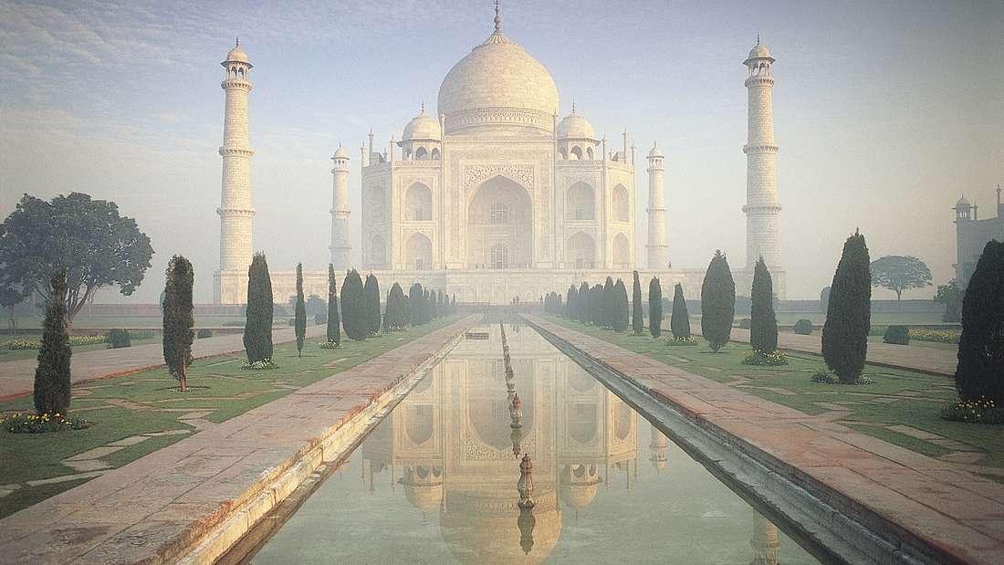 Taj Mahal im indischen Bundesstaat Uttar Pradesh.