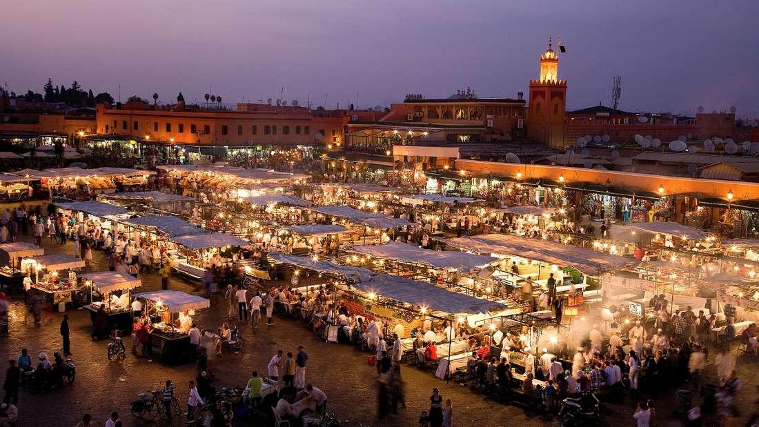 DerDjemaa el-Fna Markt in Marrakeschvon oben.