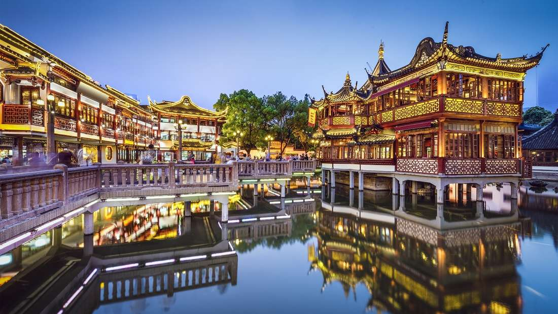 Yuyuan Gardens in Shanghai, China.