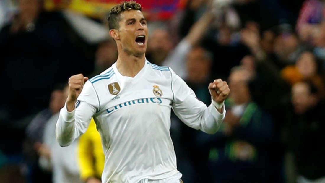 Platz 5: Zum vierten Mal wurde Cristiano Ronaldo Weltfußballer. Geschätztes Einkommen 2017: 93 Millionen Dollar.