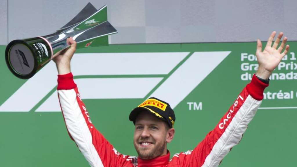 Sebastian Vettel feierte in Montréal seinen 50. Sieg in der Formel 1. Foto: Ryan Remiorz/The Canadian Press/AP