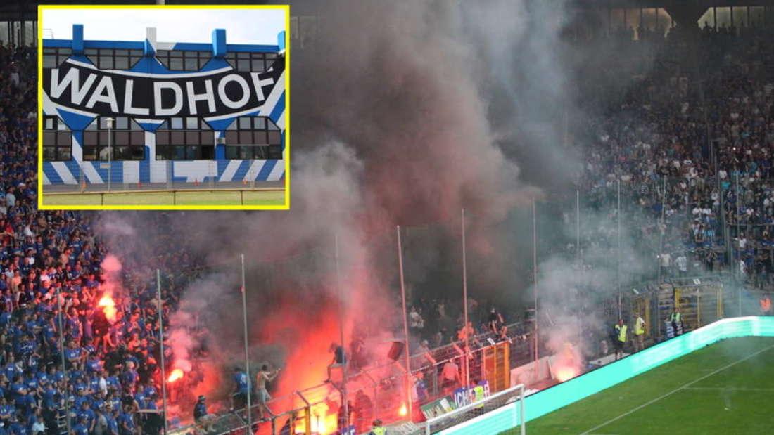 Nach dem Pyro-Skandal beim SV Waldhof drohen dem Verein nun ernsthafte Konsequenzen.