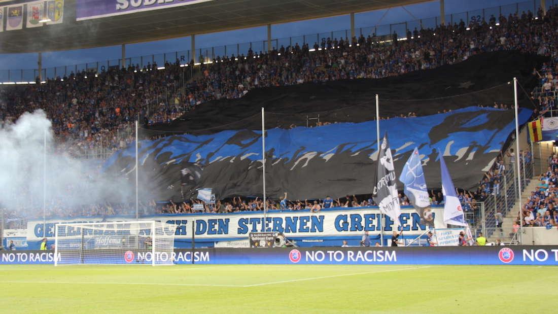 Die Fans der TSG 1899 Hoffenheim freuen sich auf die erste Saison in der Champions League.