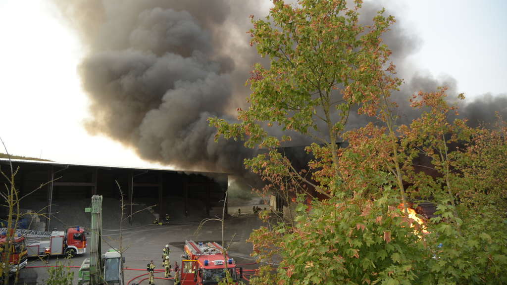Brand in Hockenheim