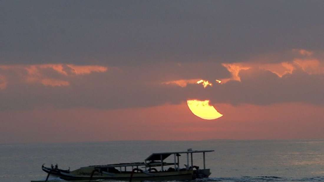 Im Strandurlaub in Sanur.