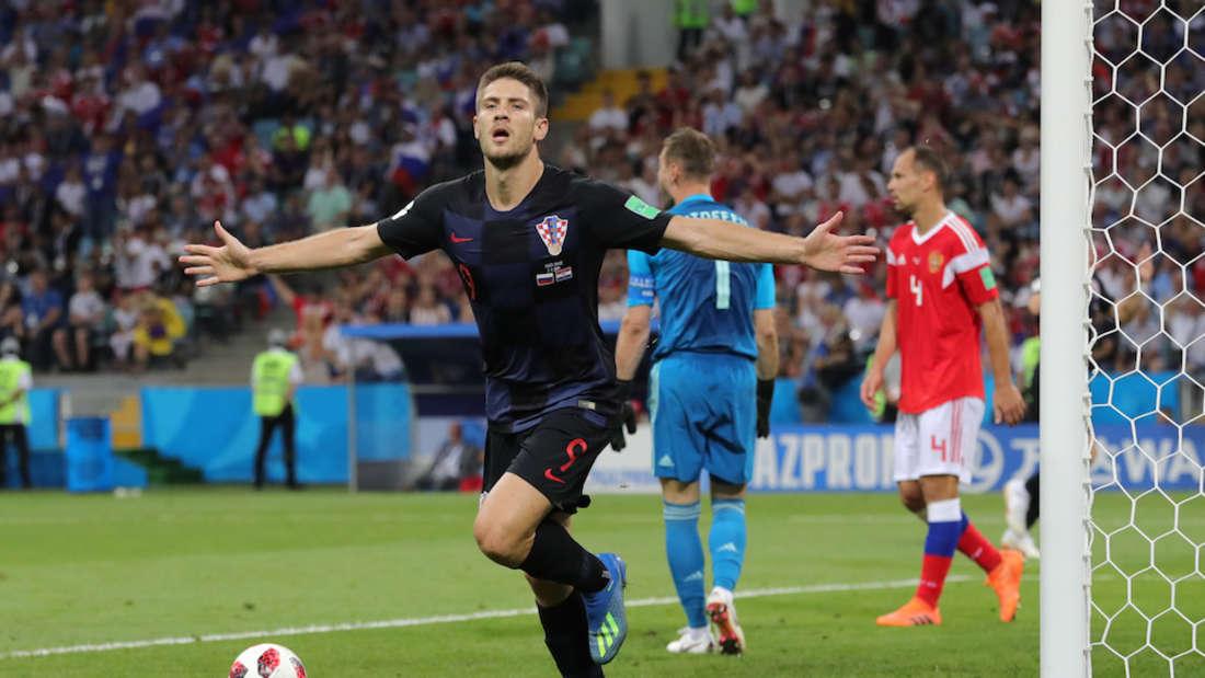 Vize-Weltmeister Andrej Kramaric ist wieder für Kroatien im Einsatz. (Archivfoto)