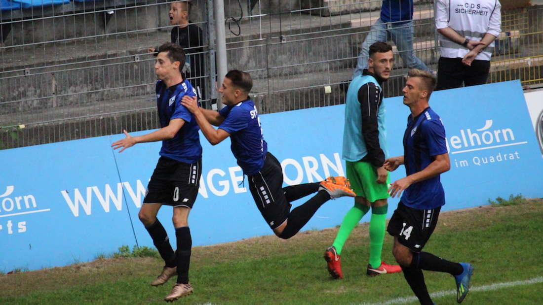 Regionalliga Südwest, 7. Spieltag: SV Waldhof Mannheim - Eintracht Stadtallendorf 2:0 (0:0)