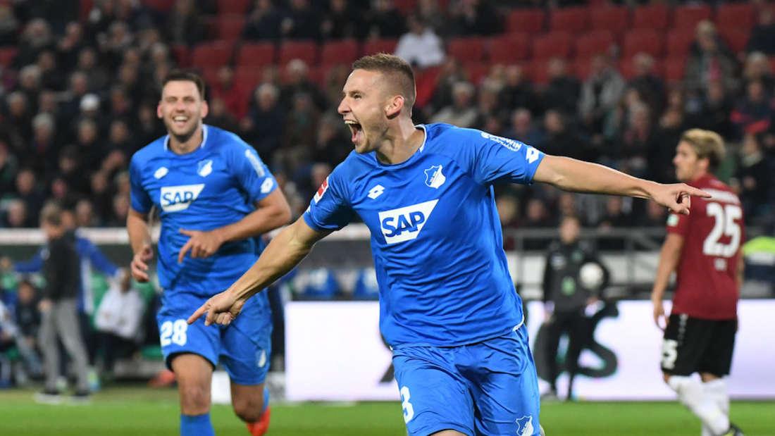 TSG-Verteidiger Pavel Kaderabek jubelt nach seinem Tor zum zwischenzeitlichen 2:0 gegen Hannover 96.