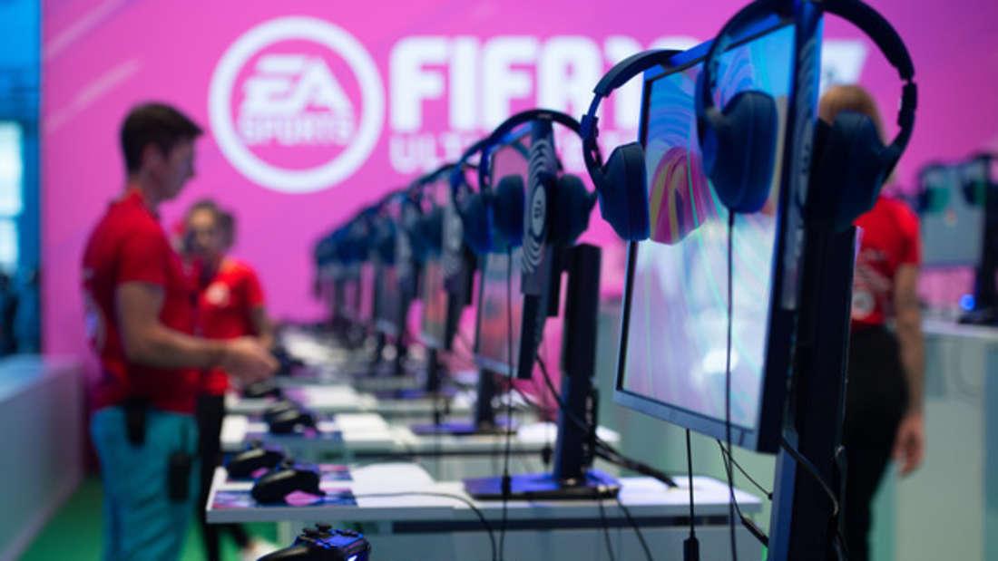 Schon auf der Gamescom 2018 wurde fleißig FIFA 19 gezockt.