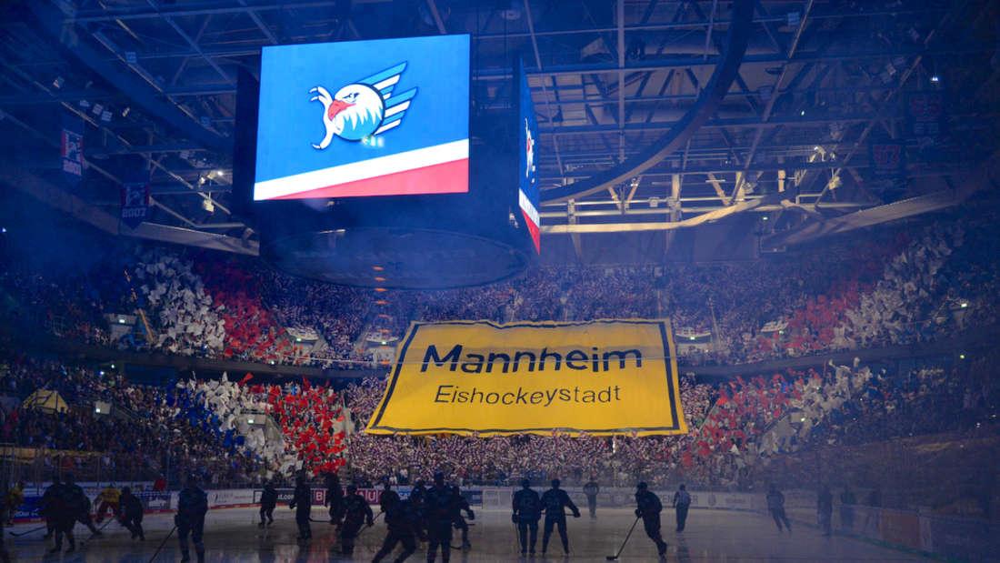 Die SAP Arena ist die Heimspielstätte der Adler Mannheim.