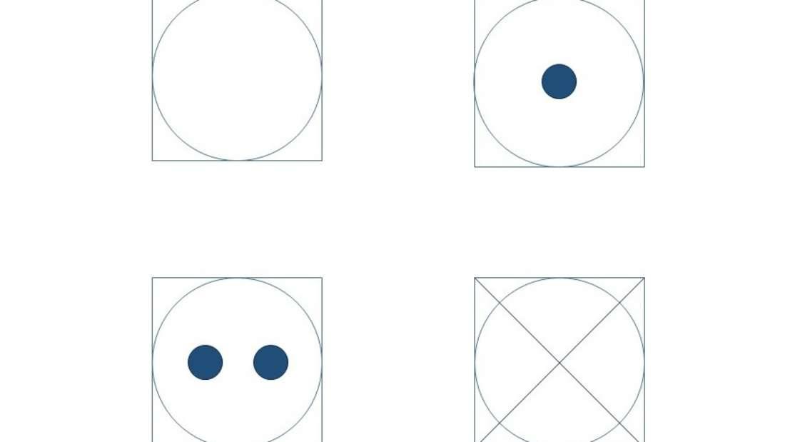 Insgesamt zwölf Trocknersymbole gibt es.