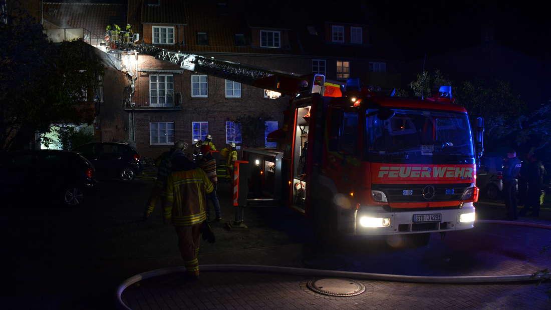 Stade: Feuer in der Innenstadt rechtzeitig gelöscht - Katastrophe nach Brand verhindert.
