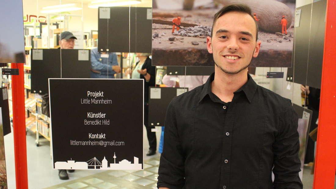 Benedikt macht bis zum 8. Dezember eine Vernissage in der Stadtbibliothek.
