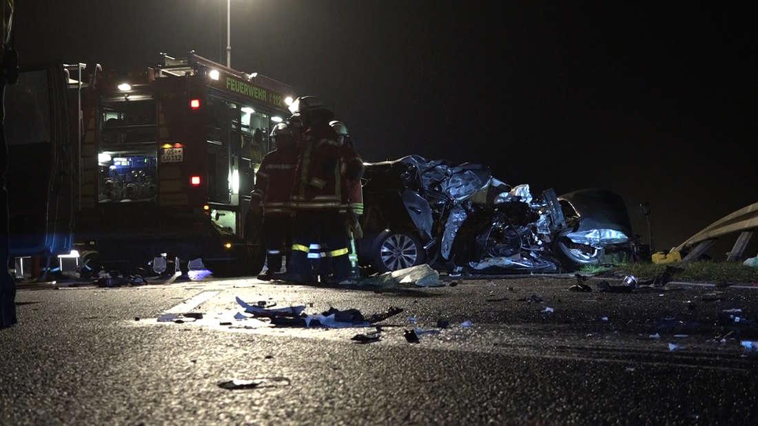 Osnabrück:Tödlicher Unfall mit Kia und Lastwagen auf B68 zwischenBadbergen und Quakenbrück